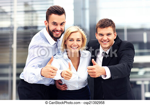 Team of business people - csp21392958