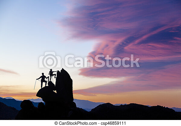 Team of climbers. - csp46859111