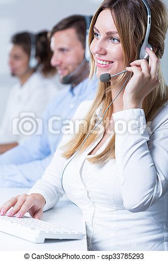 Team of telemarketers - csp33785293