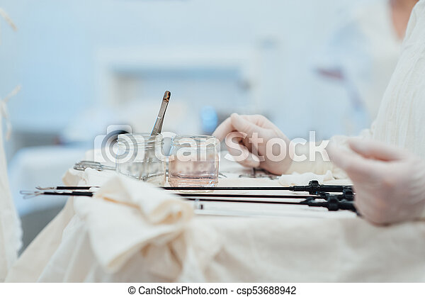Team surgeon at work in operating room - csp53688942