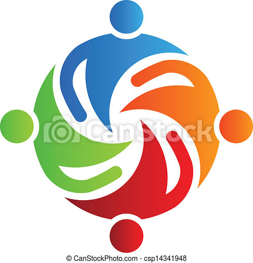 Team together 4 Logo Vector - csp14341948