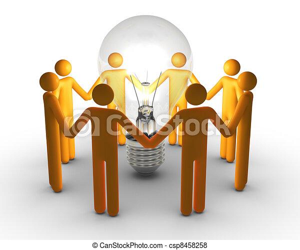 Team work for ideas - csp8458258