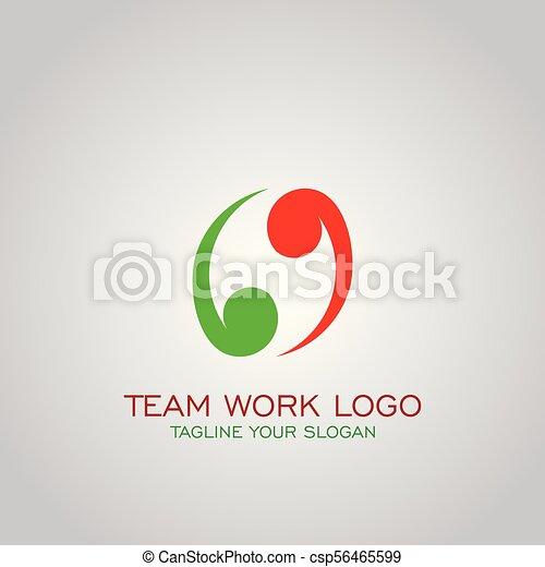 Team Work Logo Partnership Logo Business Logo Design Vector Icons