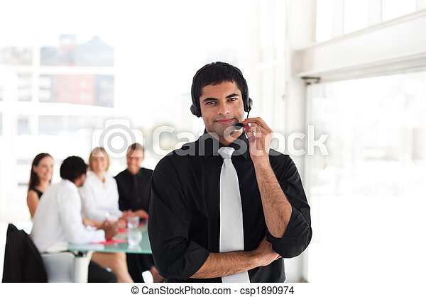 Team working in a call center - csp1890974
