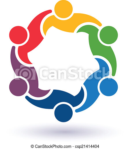 teaming, 接続される, 人々, 6.concept, 他。, 幸せ, 助力, アイコン, ベクトル, グループ, 友人, それぞれ - csp21414404