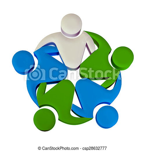 Teamwork 3D leader logo - csp28632777