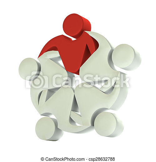 Teamwork 3D leader logo - csp28632788