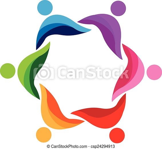Teamwork abstract people logo. Teamwork abstract people icon design ...