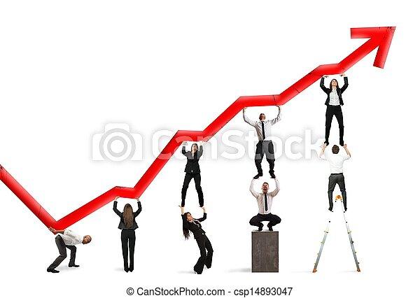 Teamwork and corporate profit - csp14893047