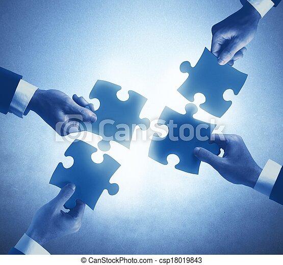 Teamwork and integration concept - csp18019843