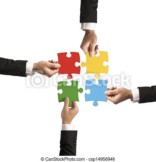 Teamwork and partnership concept - csp14956946