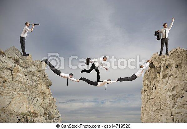 Teamwork and success concept - csp14719520