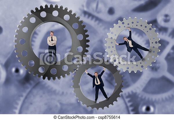 Teamwork and team effort concept - csp8755614