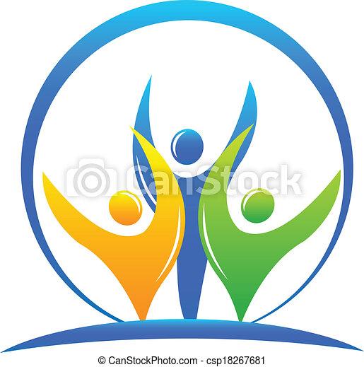Teamwork business logo - csp18267681