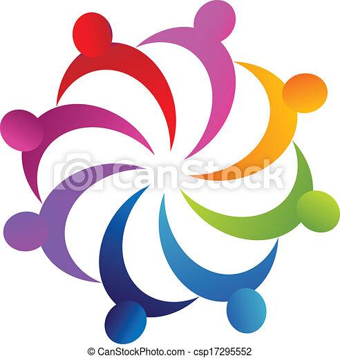 Teamwork business people logo - csp17295552