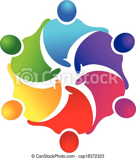 Teamwork Business people logo - csp18372323