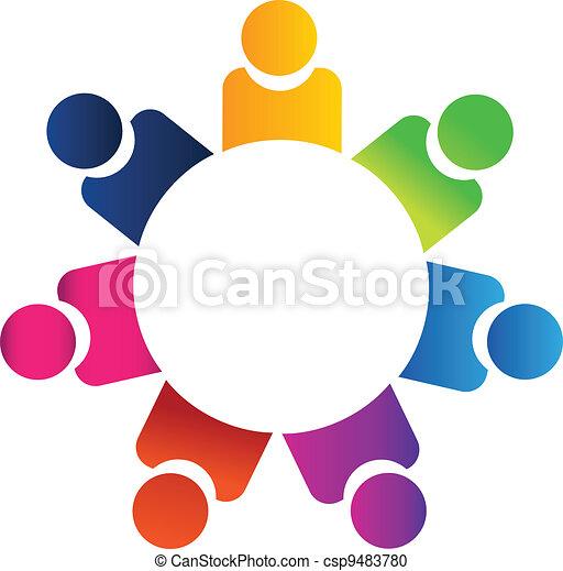 Teamwork business people logo - csp9483780