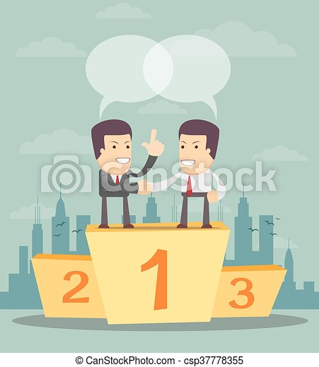 Teamwork - Business people on the first place - csp37778355