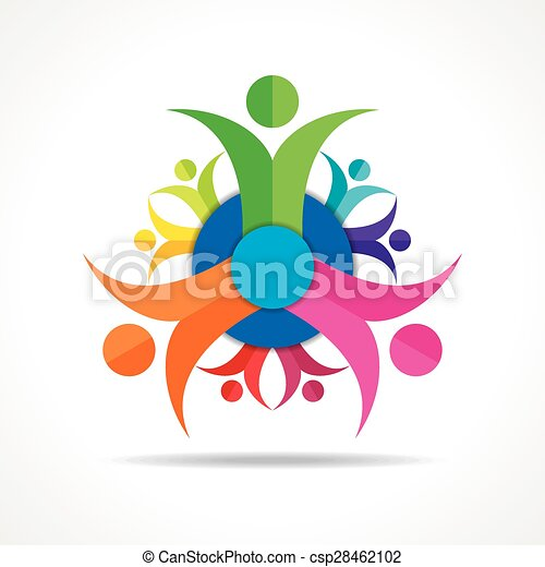 Teamwork Concept - Group of People  - csp28462102