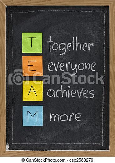 teamwork concept on blackboard - csp2583279