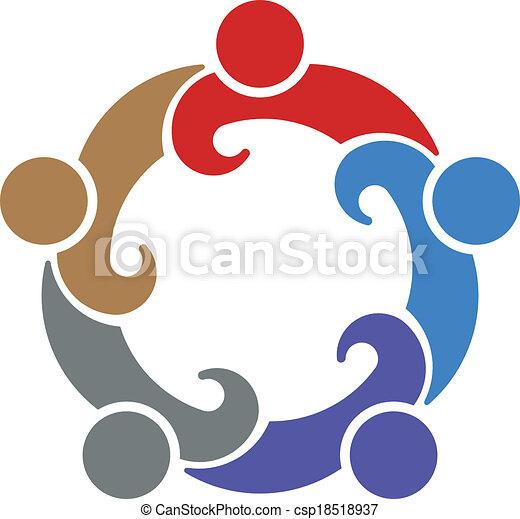 Teamwork Convention 5. Vector  - csp18518937
