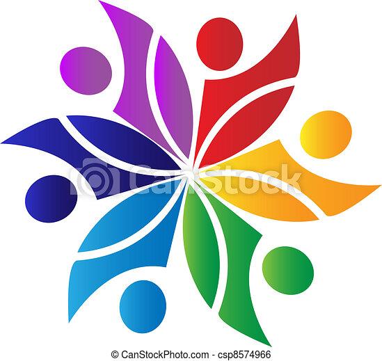 Teamwork diversity logo - csp8574966