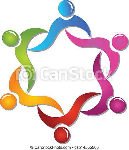 Teamwork diversity people logo  - csp14555505