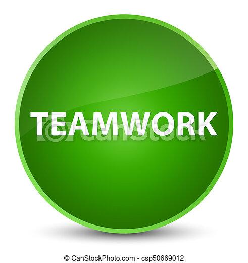 Teamwork elegant green round button - csp50669012