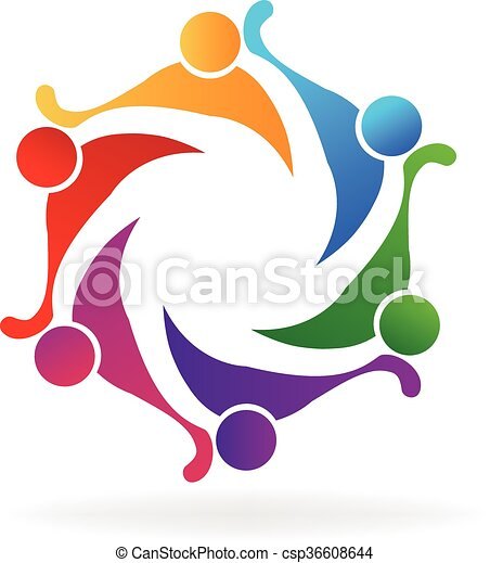 Teamwork Friendship Logo Vector Teamwork Logo Concept Of Friendship