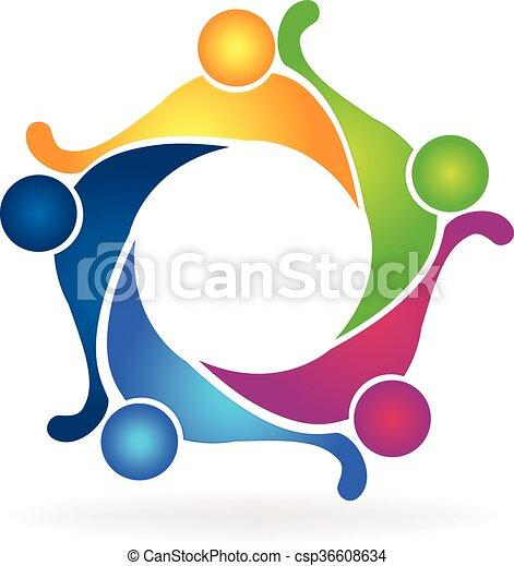 Teamwork Friendship Logo Vector Teamwork Logo Concept Of Friendship