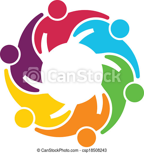 teamwork gear vector group of 6 people hugging each other eps rh canstockphoto com gear vector art gear vector image