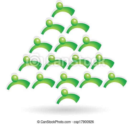 Teamwork green tree logo - csp17900926