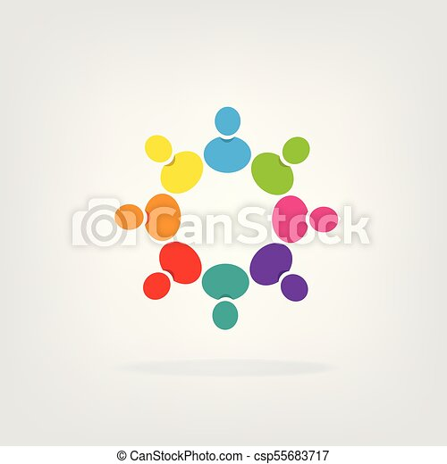 Teamwork group of people logo. Logo teamwork people icon vector ...