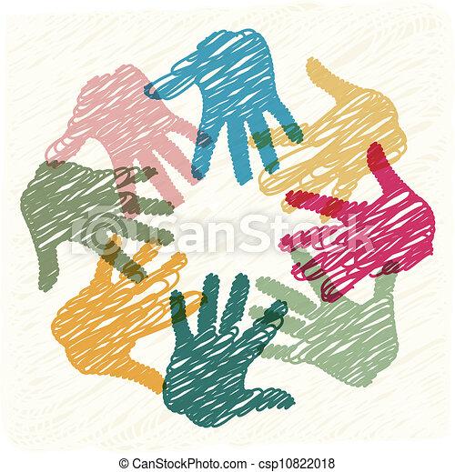 teamwork, hænder - csp10822018