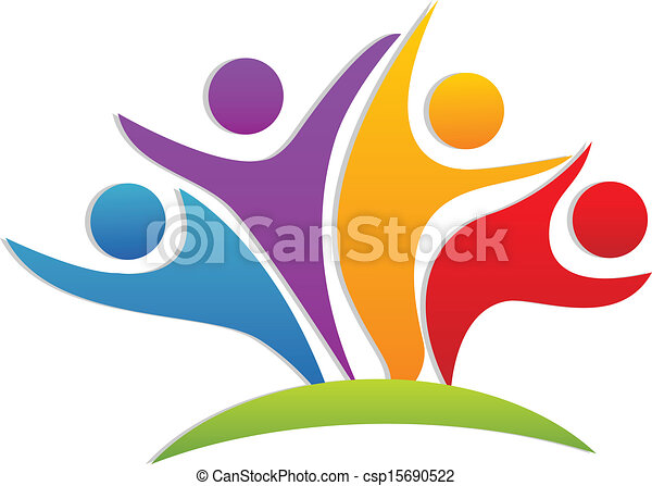 Teamwork happy partners logo - csp15690522