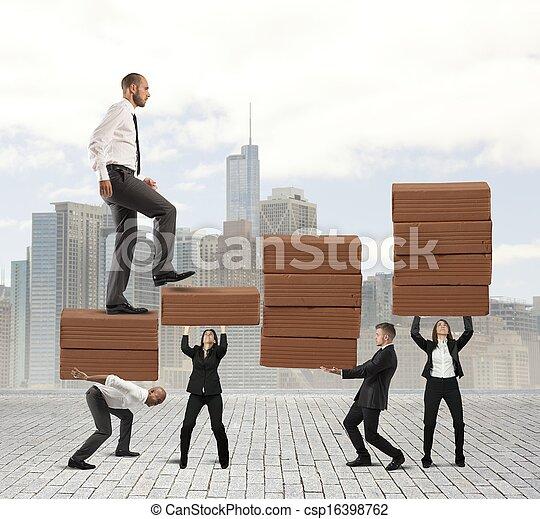 teamwork, held - csp16398762