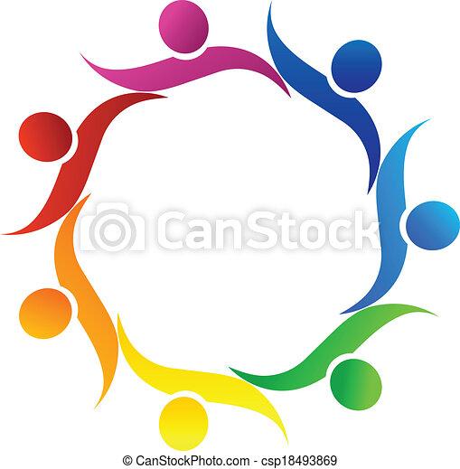 teamwork hug symbol logo vector clip art vector search drawings rh canstockphoto com electrical symbol clipart symbol clipart