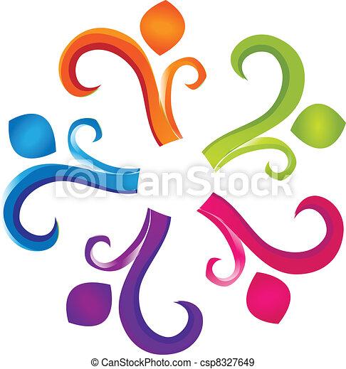 Teamwork humanity logo - csp8327649