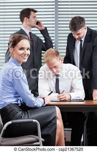 Teamwork in office - csp21367520