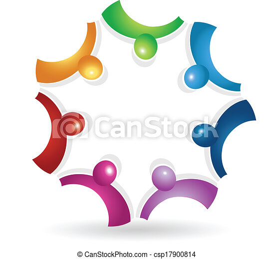teamwork meeting icon logo vector of teamwork meeting icon vector rh canstockphoto com clip art teamwork body of christ church clipart teamwork free
