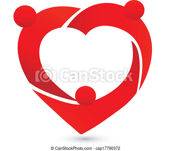 Teamwork people heart logo - csp17790372