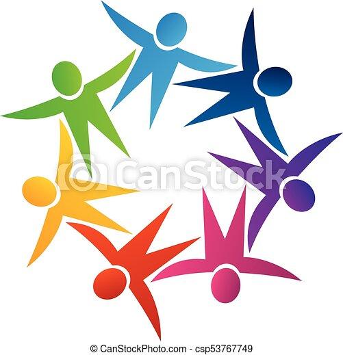 teamwork people holding hands logo logo teamwork people holding rh canstockphoto com holding hands logo design