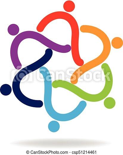 Teamwork people logo - csp51214461