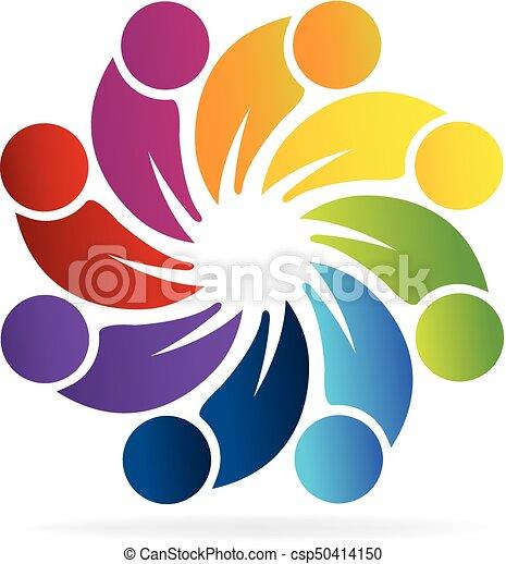 Teamwork people logo - csp50414150
