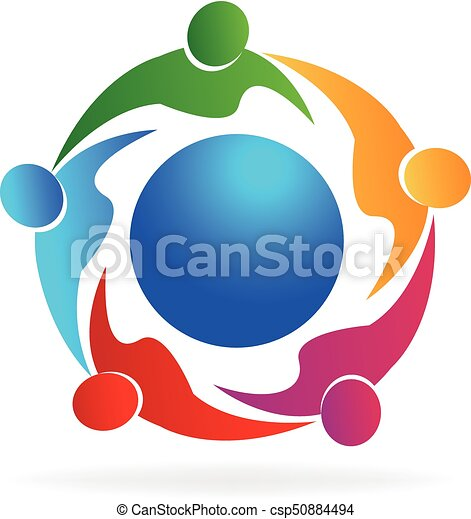 Teamwork people logo - csp50884494