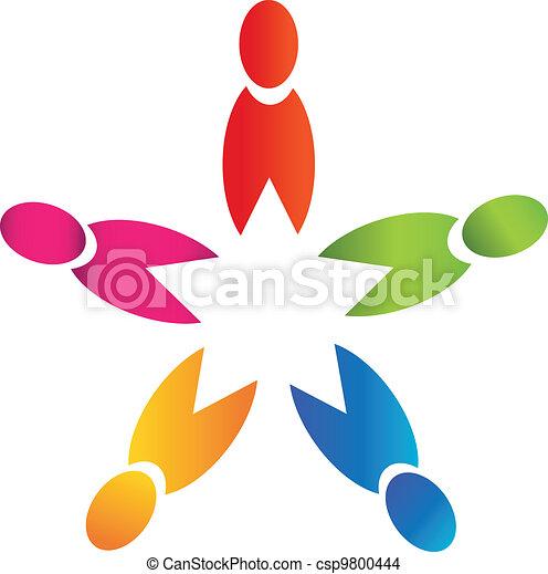 Teamwork people logo - csp9800444