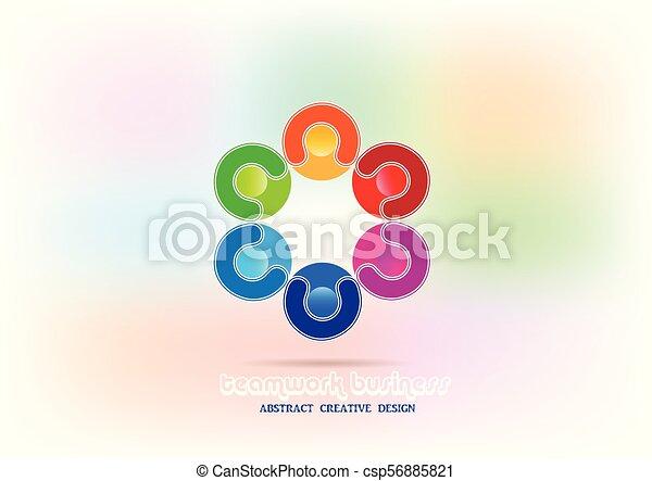 Teamwork people logo - csp56885821