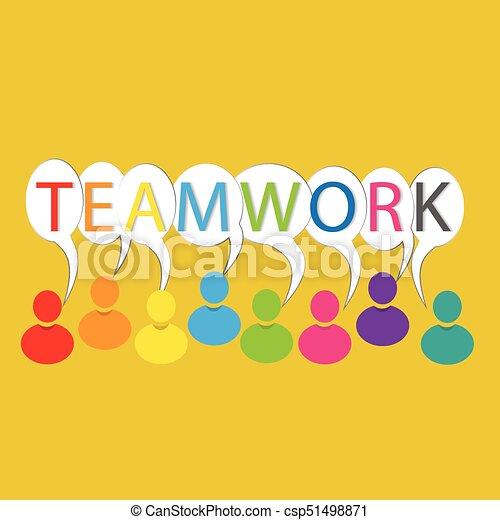 Teamwork people logo - csp51498871