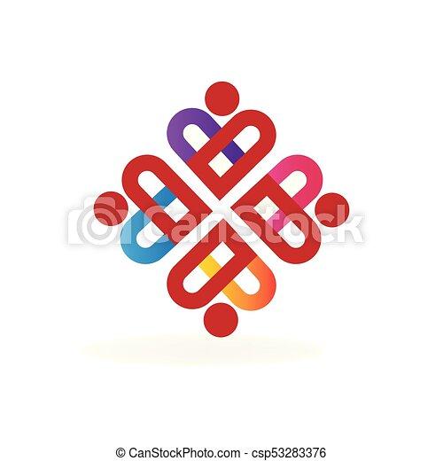 Teamwork People Love Hearts Logo Teamwork People Love Hearts Symbol