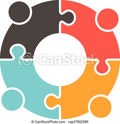 teamwork people puzzle pieces vector graphic design vector rh canstockphoto com graphic design logo clipart graphic design clipart free